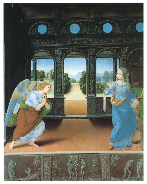 "Lorenzo di Credi, ""The ""Annunciation"""